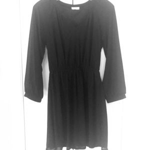 Tobi Black Long Sleeve Dress
